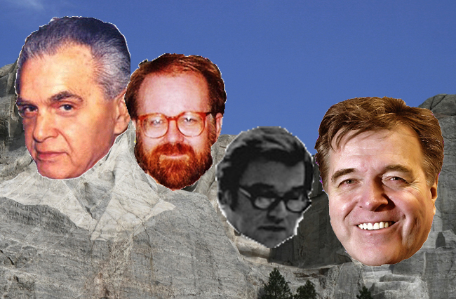 Mount Rushmore of Comic Book Artists; Jack Kirby, John Byrne, John Romita, Sr. and Neal Adams