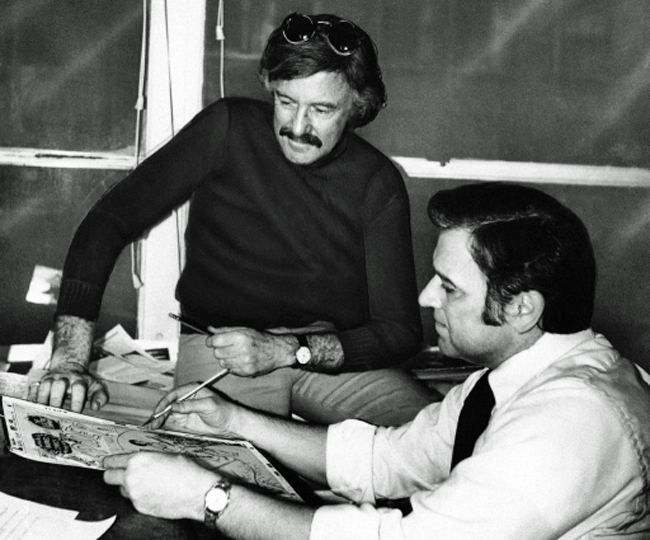 John Romita, Sr. and Stan Lee