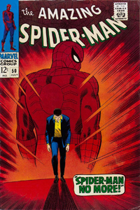 The Amazing Spider-Man #50 cover by John Romita, Sr.