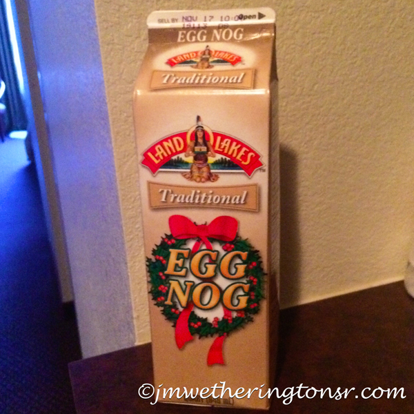 Carton of egg nog