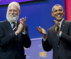 David Letterman and former President Barack Obama