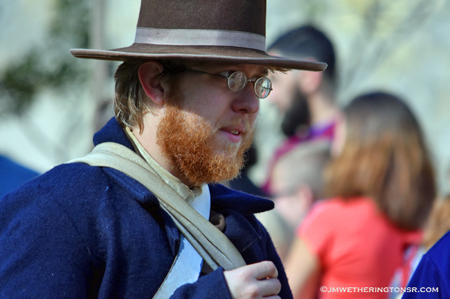 Re-enactor at the Alamo Living History Encampment
