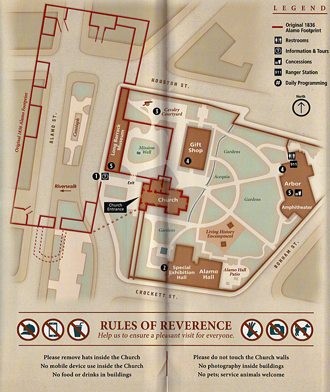 Map of the Alamo grounds