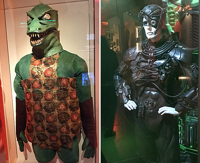 Gorn and Borg costumes at Museum of Pop Culture