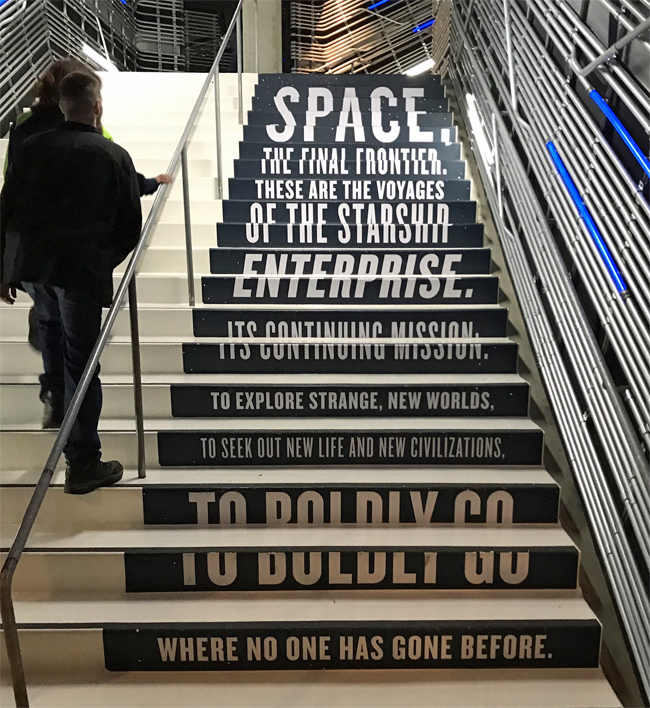 Stairs to Star Trek exhibit at Museum of Pop Culture