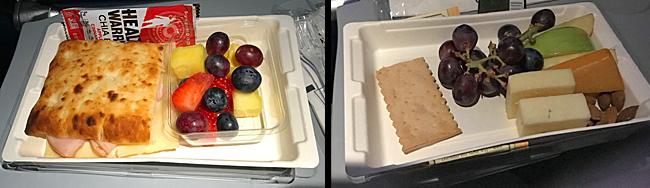 In-flight breakfasts