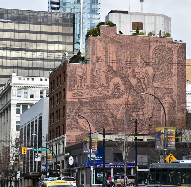Randall Building Mural in Vancouver