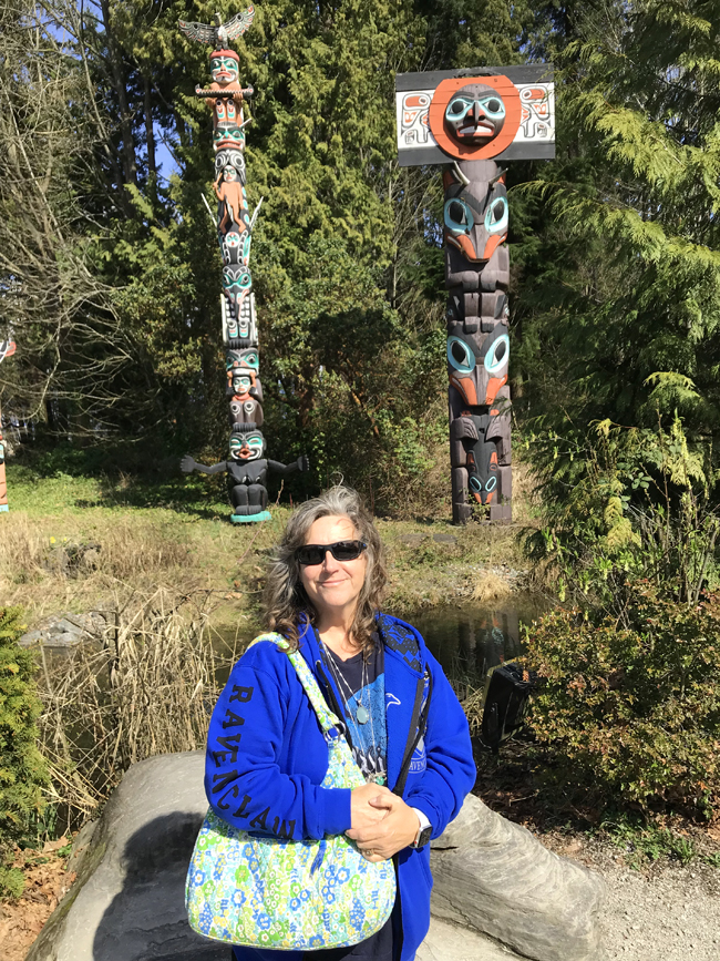 Totems at Stanley Park in Vancouver