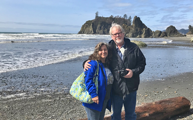 Cindy and I on Ruby Beach.