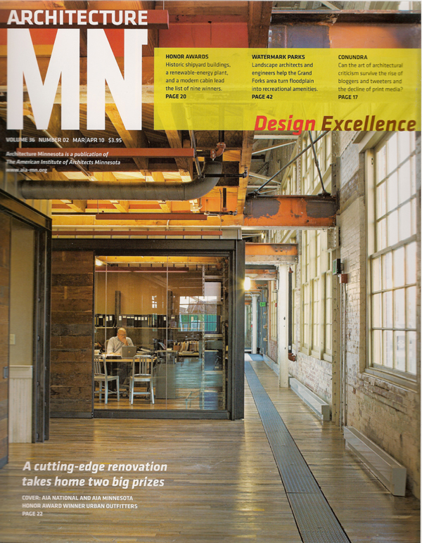 Cover of Minnesota Architecture magazine March/April 2010 issue