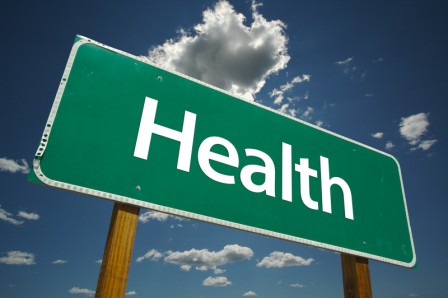 "Roadside sign that says ""Health"""