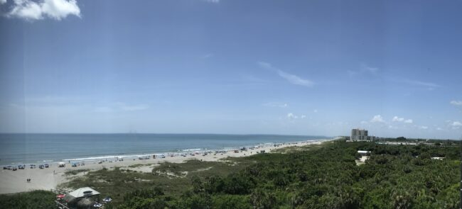 Panorama Shot of Cocoa Beach from hotel window