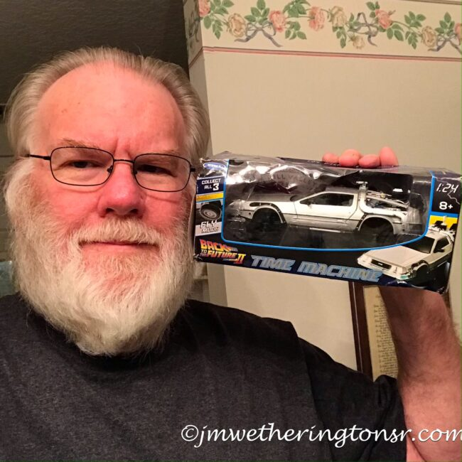 Mark's Birthday Gift Back to the Future model car