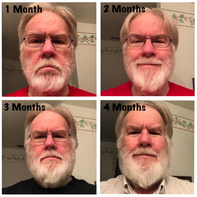 Jeff Beard Growth in 4 Month Stages